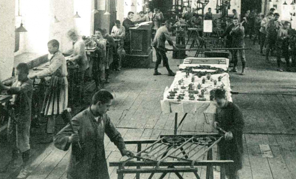 Italy - Workshop for blacksmiths and steel workers