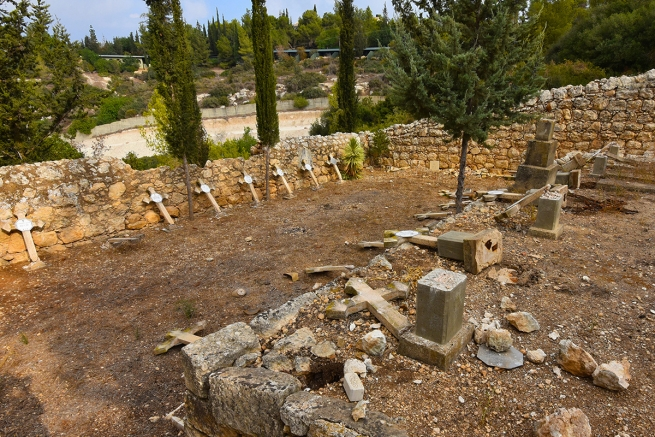 Israel - Beit Jemal Catholic cemetery desecrated again