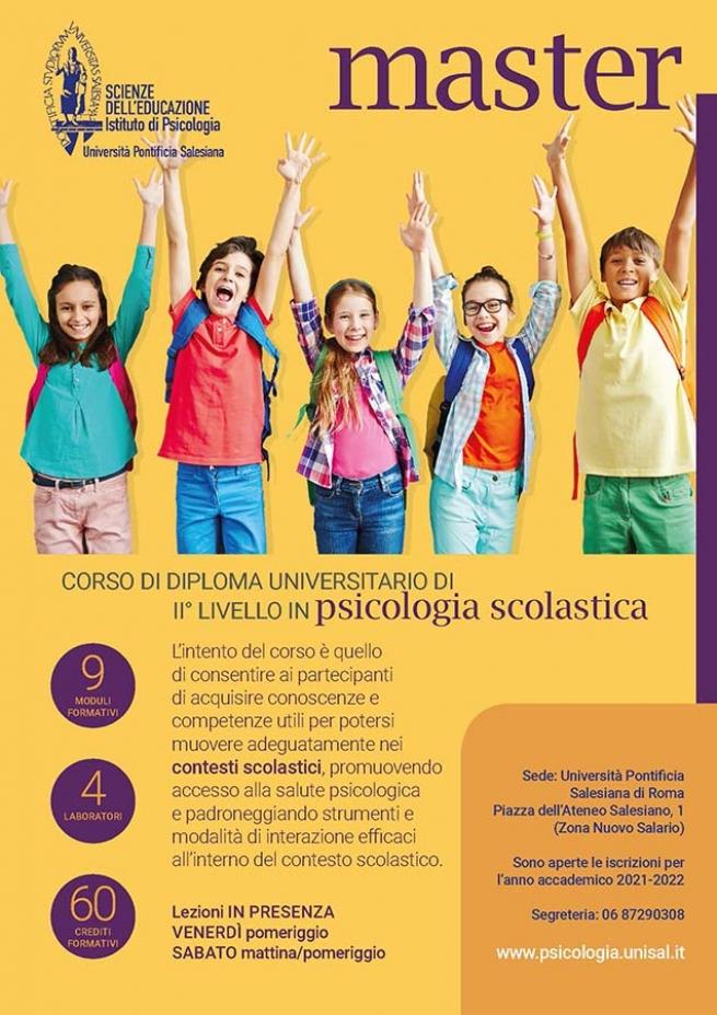 Italia – L'UPS avvia un nuovo Master in Psicologia Scolastica