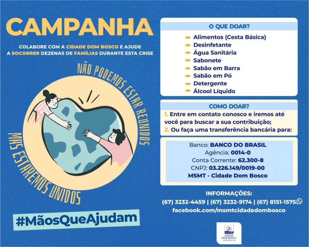 "Brazil - ""Cidade Dom Bosco"" launches #MãosQueAjudam solidarity campaign"