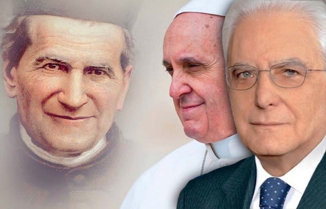 Italy - Homage of the Pope and President Mattarella to Don Bosco