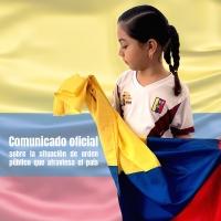 Colombia – Comunicato ufficiale sulla situazione di ordine pubblico che attraversa il Paese