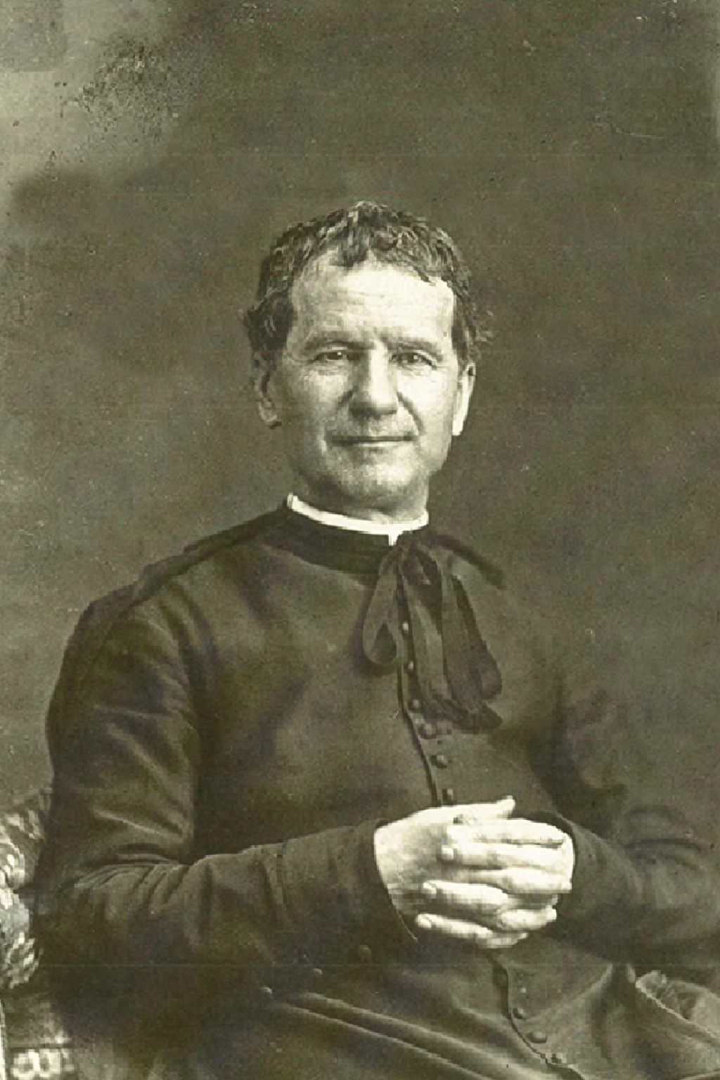"Italy – Don Bosco's best known and most used photograph: ""Don Bosco in an armchair"""