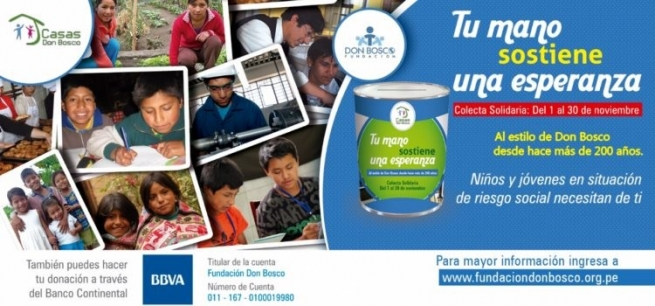 "Peru - ""Your hand supports a hope"": campaign for ""Red de Casas Don Bosco"""
