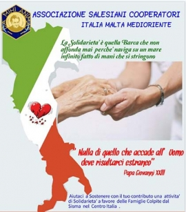 Italy - Salesian Cooperators offer a helping hand to families hit by the quake in central Italy