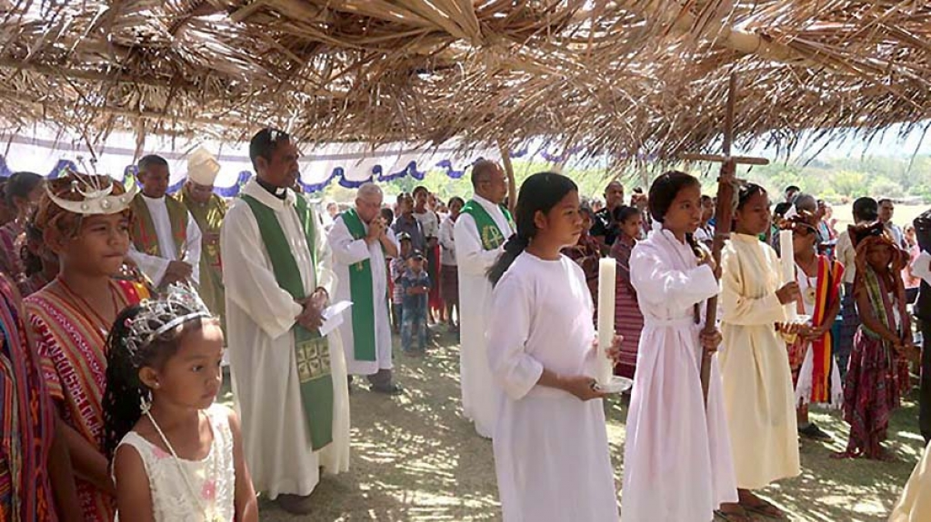 East Timor - Construction of new chapel officially launched