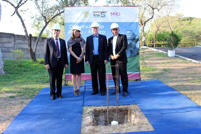 El Salvador – First stone set at Micro-Macro Observatory of Don Bosco University