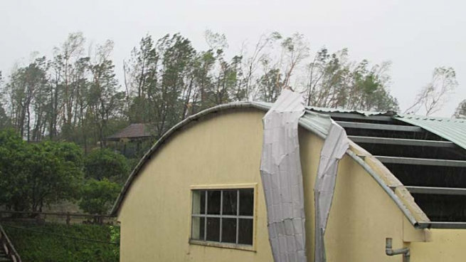 Vietnam – The Hurricane No. 10 Brought Severe Damage to Don Bosco Ky Anh Techinical Training Center