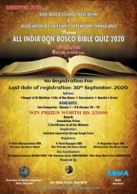 India – All India Inter School Don Bosco Bible Quiz 2020