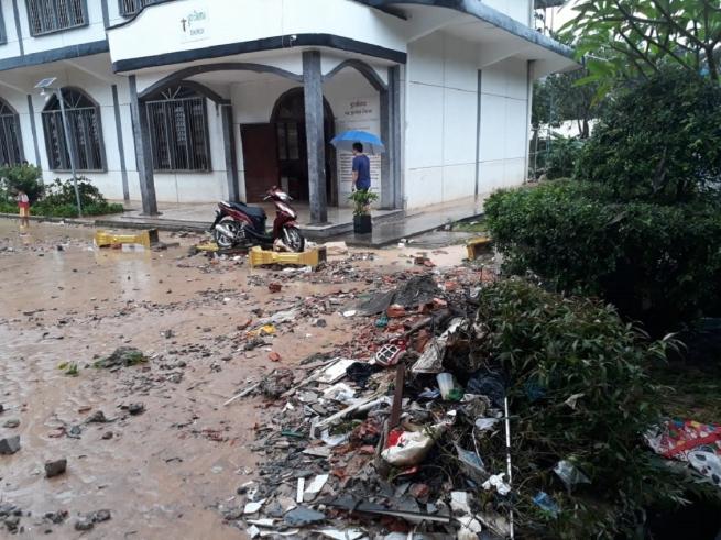 Camboja – Forte inundação afeta Dom Bosco Sihanoukville