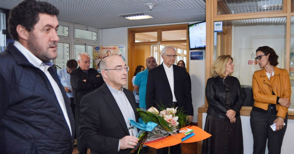 Portugal - New bishop of Funchal visits Salesian Institute