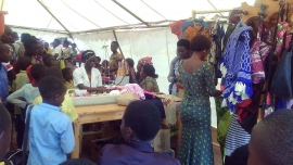 Rwanda – Crafts Exhibition and Sales from workshop for young mothers