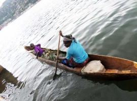 "Democratic Republic of the Congo - ""The child and the dugout canoe"""