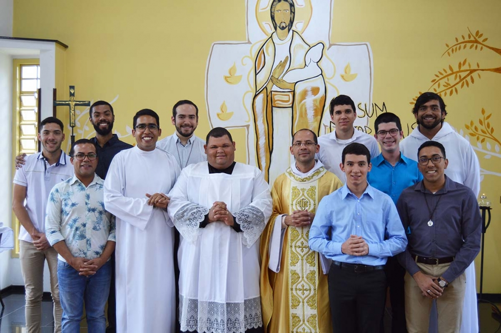 Brazil - Novices deliver request for First Religious Profession