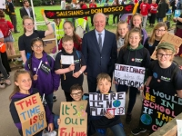 Great Britain – Salesian Students from Bolton speak up for our planet & the poor at Westminster & on BBC TV