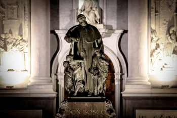 Italy - Feast of Don Bosco in Salesian places. The main celebrations broadcast live