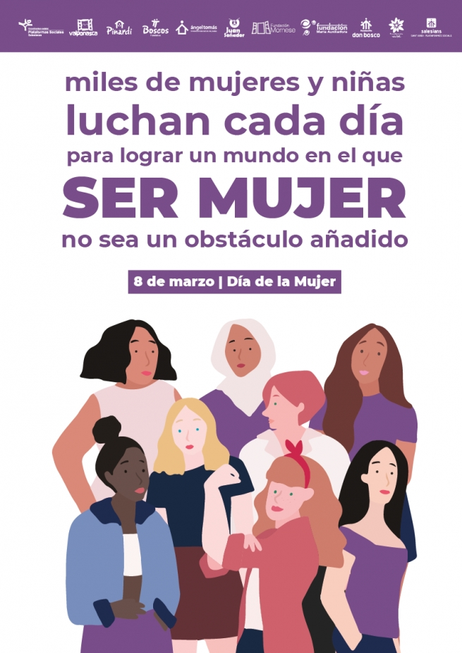 Spain - Salesian Social Platforms celebrate International Women's Day with the #OrgullosaDeSerMujer campaign