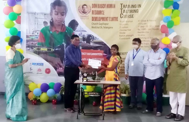 India – Completion of the short-term Tailoring Course at Don Bosco Human Resource Centre