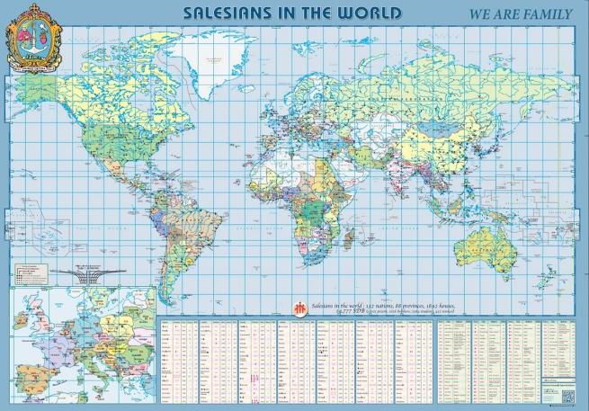 RMG – 'Somos uma grande família': novo Mapa dos Salesianos no Mundo