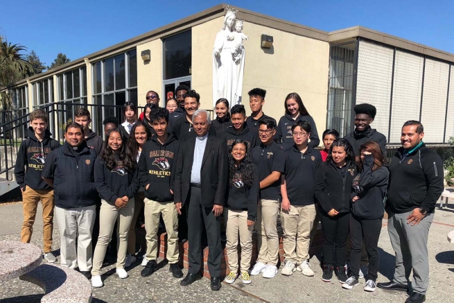 Stati Uniti – Don Tom Uzhunnalil visita il Salesian College di Richmond