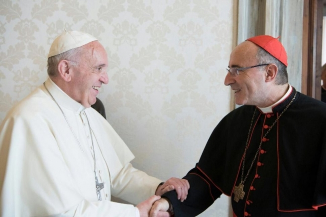"Vatican - A ""mate"", a book and a request: Cardinal Daniel Sturla, SDB, with Pope at Vatican"