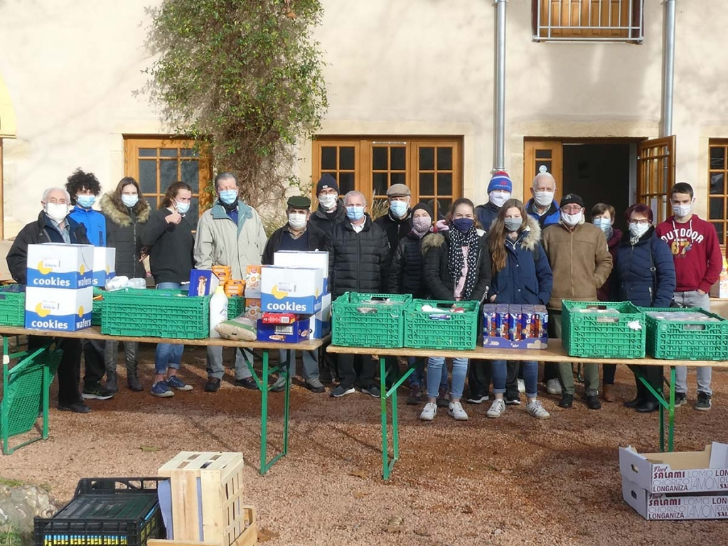"France - Over a ton of basic necessities collected by ""Ressins"" Salesian"