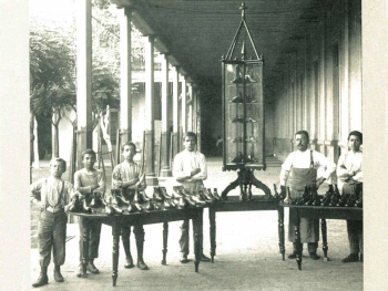 Italy - The first shoemaking workshop in the early days of Valdocco