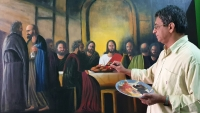 """India – Salesian Brother Mathew John's Latest Contemporary Masterpiece: """"The Last Supper"""""""