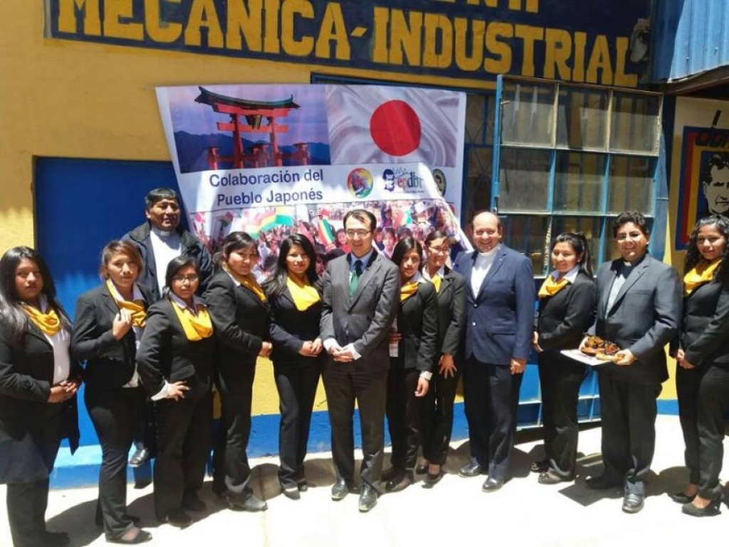 Bolivia - Japanese Embassy donates tech equipment to Don Bosco Institute of El Alto