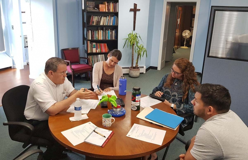 United States– Fr Attard visits New Rochelle Office of Youth Ministry