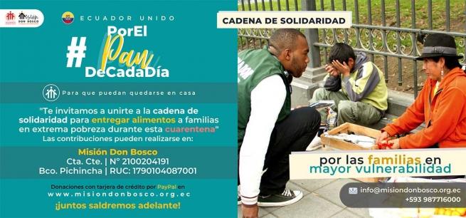 """Ecuador – """"Per il pane quotidiano, affinché possano restare a casa"""": la solidarietà salesiana al tempo di COVID-19"""