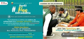 "Ecuador – ""For daily bread, so they can stay home"": Salesian solidarity in the time of COVID-19"