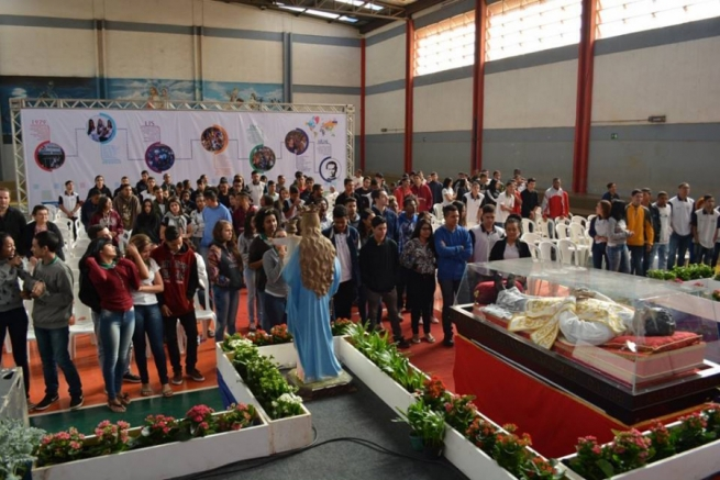Brazil - Salesians celebrate the arrival of Don Bosco relics in Brasilia
