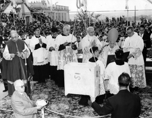 Italy – 1961 - June 11 - 2021: 60 years ago the first stone of Don Bosco Temple
