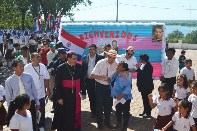 "Paraguay - Mgr. Gabriel Escobar, SDB, to Rector Major: ""Thank you for taking us the living source of faith and for confirming us in this missionary vocation"""