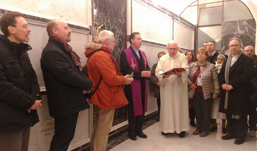 Italy - Fr Ángel Fernández Artime blesses crypt of Basilica of Mary Help of Christians