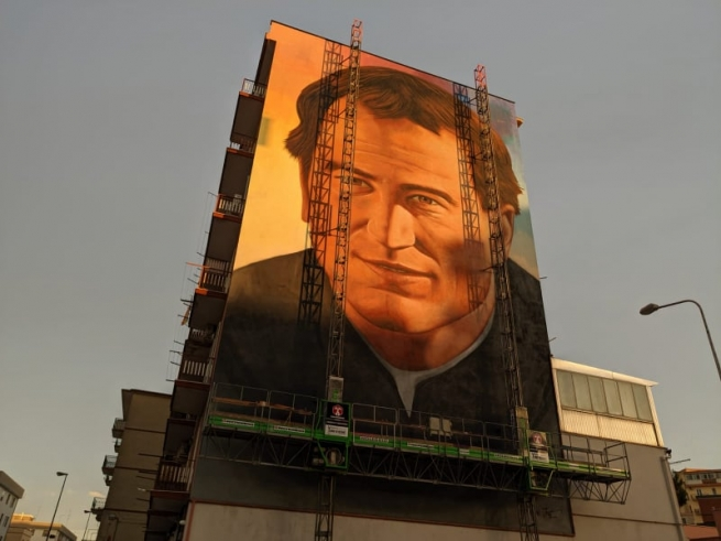 Italy – Don Bosco's face in the peripheries: a mural by Jorit in Foggia