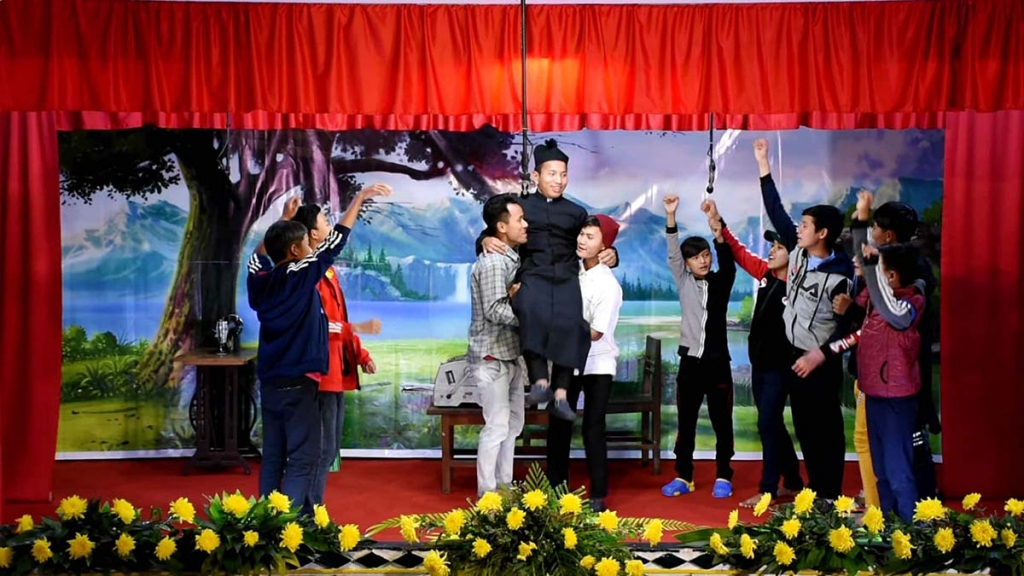 Myanmar - Theatrical representation on the mission of Don Bosco