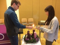 Austria - Two youths of SYM accept challenge of Advent Gate