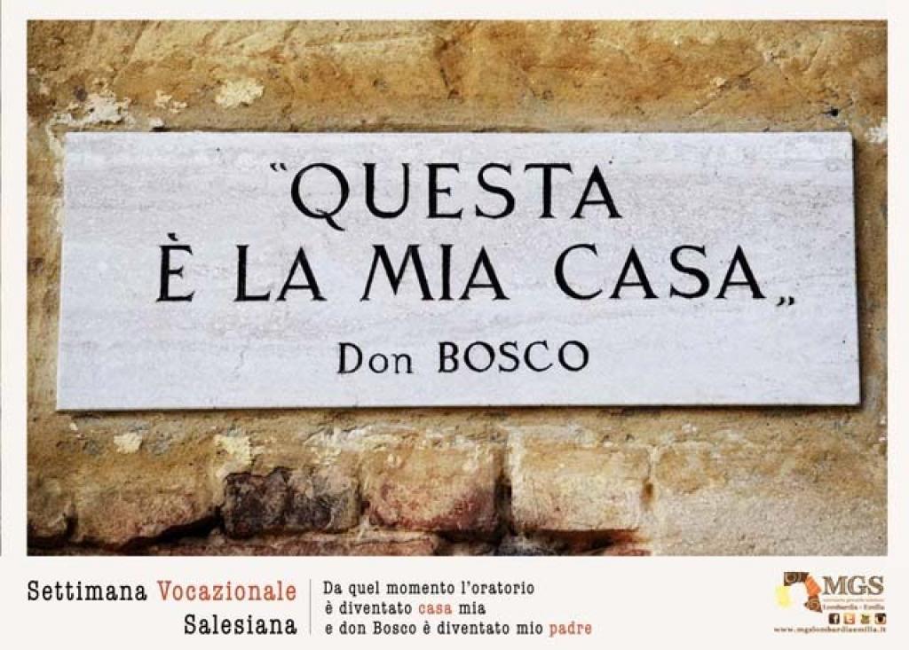 Italia settimana vocazionale salesiana 2017 for Programma la mia casa