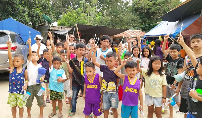 The Philippines – Volcano Taal or Mindanao earthquake victims helped by many Salesian Family members