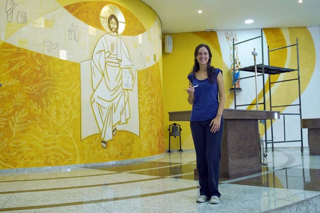 "Brazil - Italian artist offers five works to ""Santa Luzia"" church"