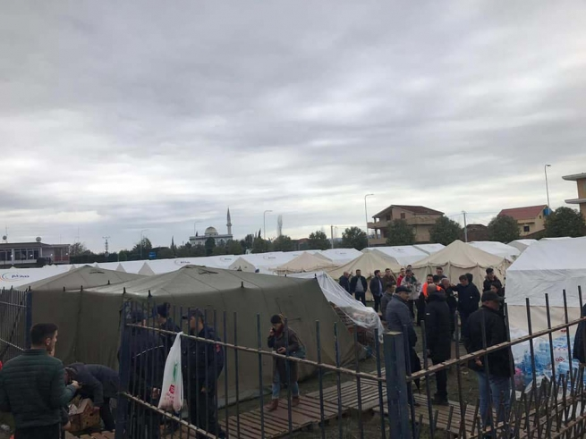 Albania – Emergenza terremoto, il VIS collabora con la Caritas