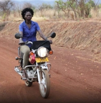 Uganda – In the midst of terrifying statistics, a young mother - a biker - struggles to survive