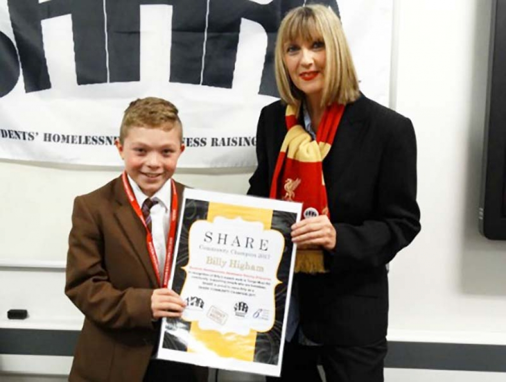 Great Britain - Salesian student awarded for his service to the homeless