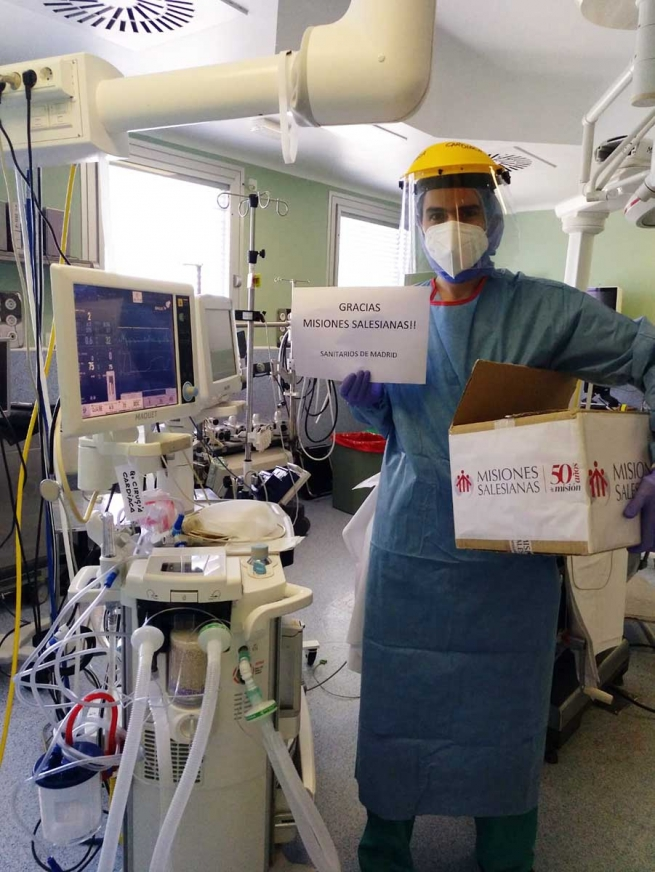 "Spain – ""Misiones Salesianas"" delivers over 37,000 FFP2 masks to healthcare professionals to fight coronavirus"