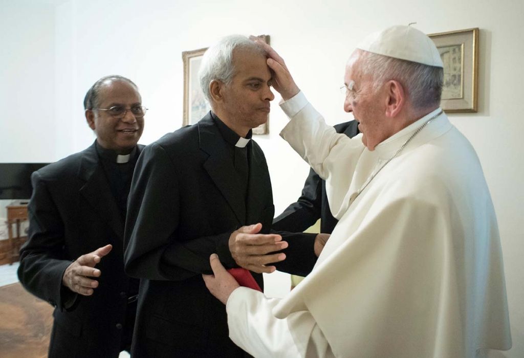 Vaticano – Papa Francesco ha incontrato don Thomas Uzhunnalil