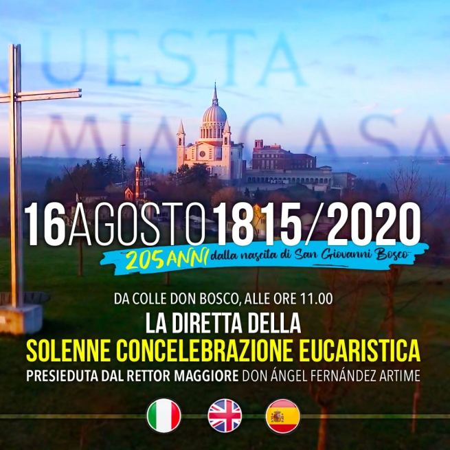 RMG – Messe en direct pour le 205e anniversaire de Don Bosco