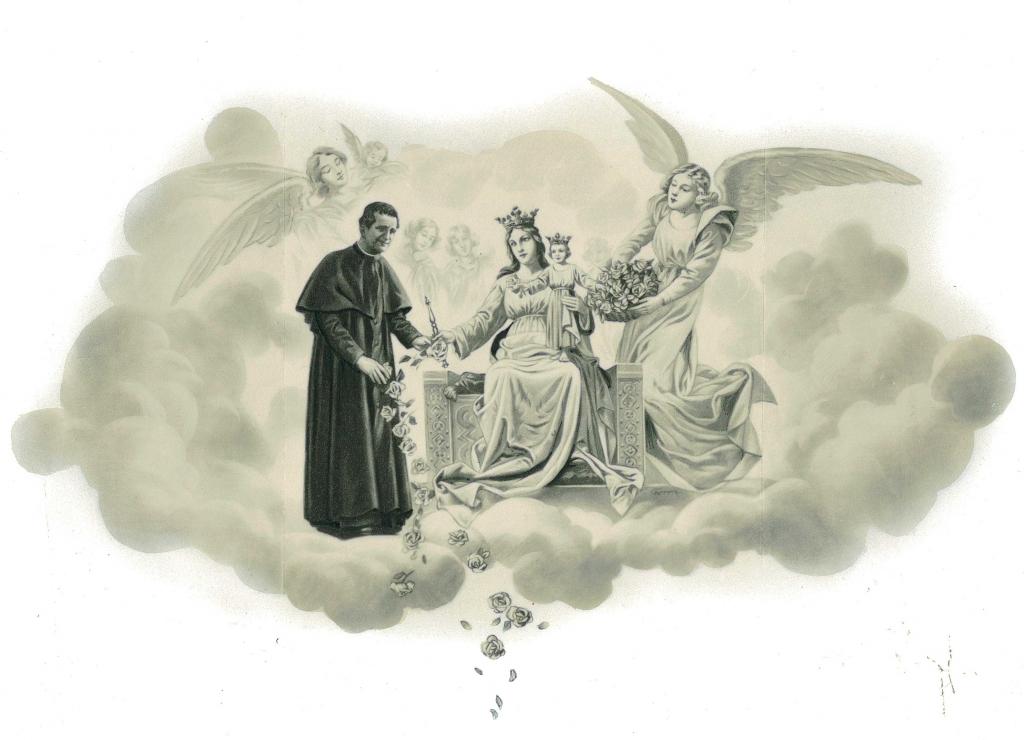 Don Bosco Recibe Rosas De Manos De María Auxiliadora
