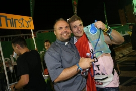 "Croatia - A priest at the ""Ultra Festival"". To give living water"